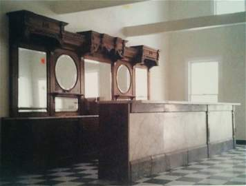 Victorian  Ice Cream Parlor - Wood and Marble