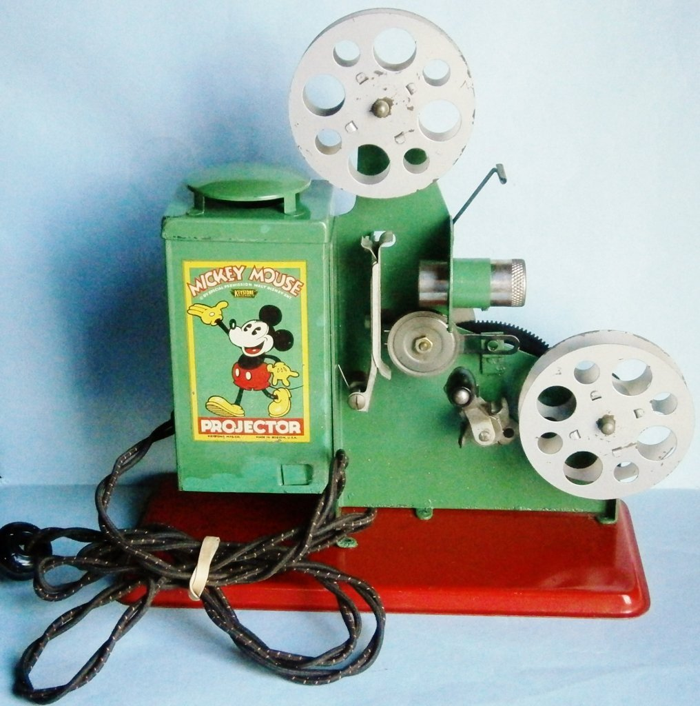 1930s Mickey Mouse Movie Projector by Keystone Mfg. Co.