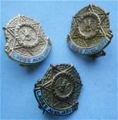 (3) Jewish War Veterans Ladies Auxiliary Pins