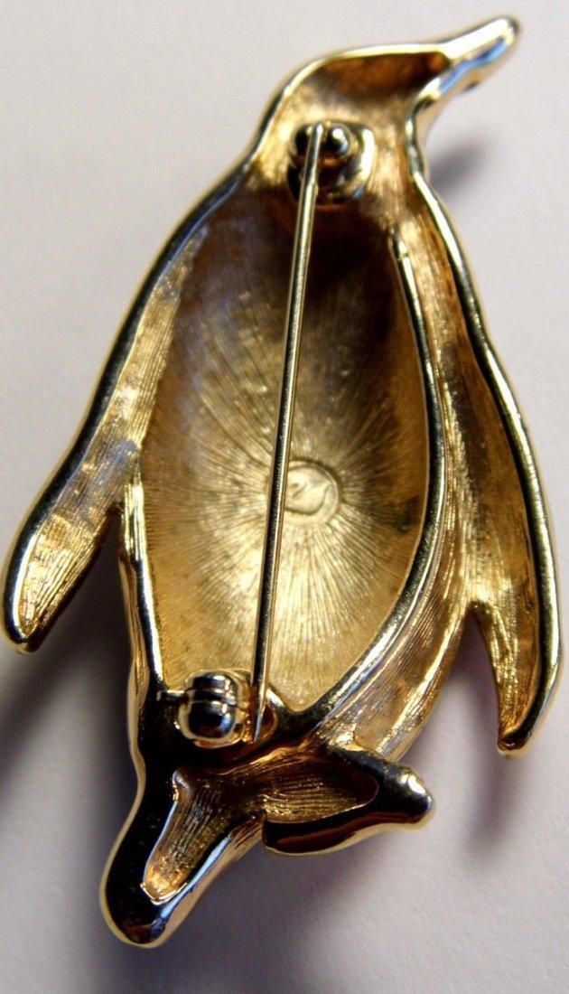 Swarovski Austrian Vintage Brooch Penguin - 4
