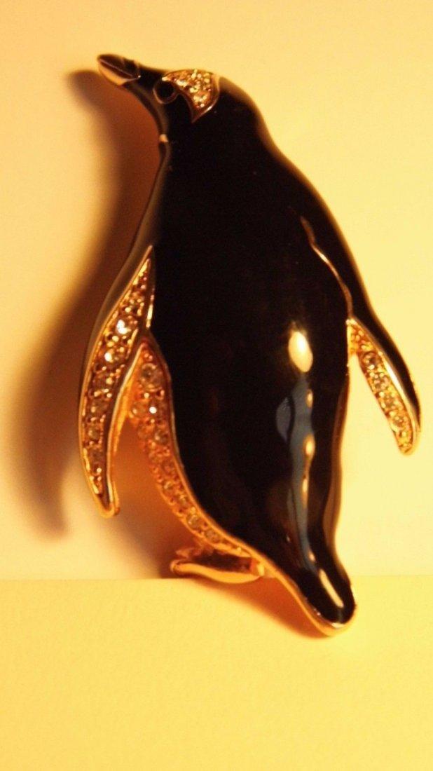 Swarovski Austrian Vintage Brooch Penguin - 6