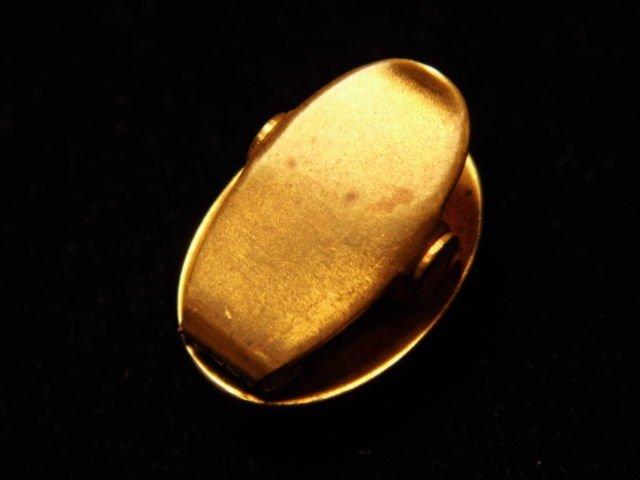 Antique Victorian Gilt Bronze Cameo Clip - 3