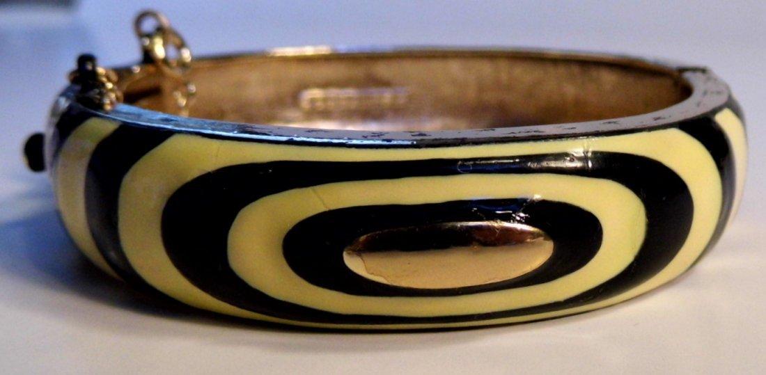 Vintage Signed Enamel Eisenberg Cuff Bracelet - 2