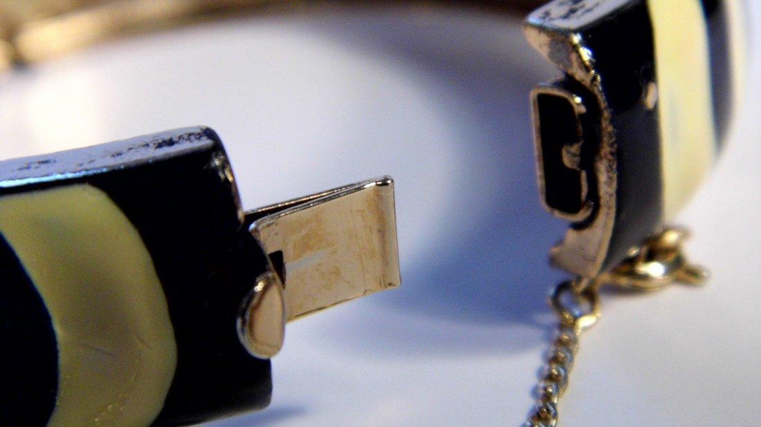 Vintage Signed Enamel Eisenberg Cuff Bracelet - 4