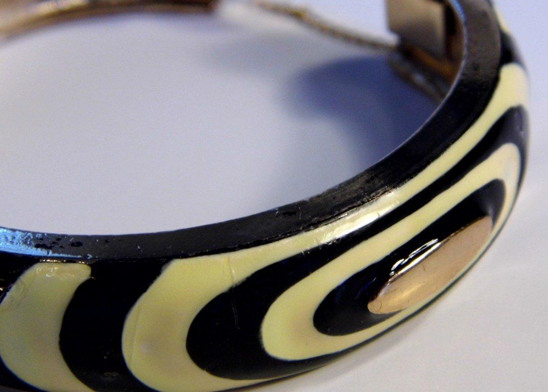Vintage Signed Enamel Eisenberg Cuff Bracelet - 5