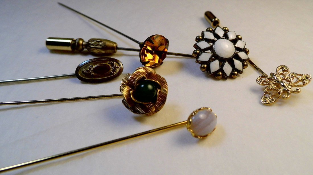 6 Antique Victorian Pins