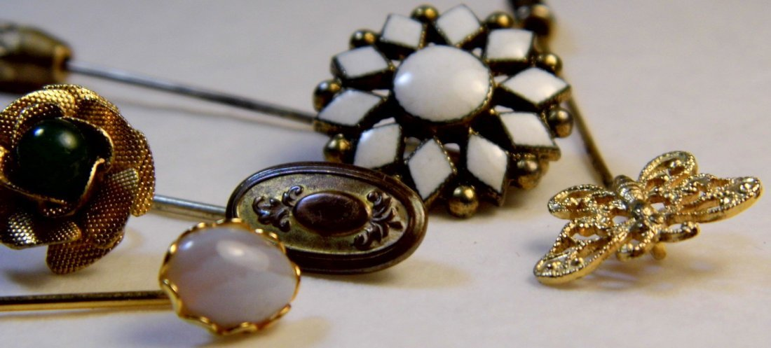 6 Antique Victorian Pins - 5
