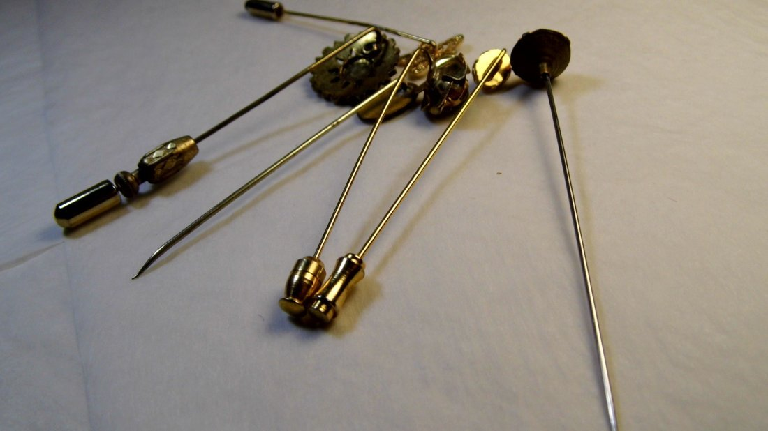 6 Antique Victorian Pins - 6
