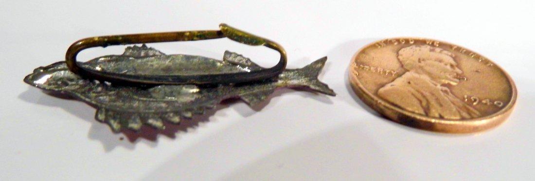 Antique Enamel Fish Pin Perch - 5