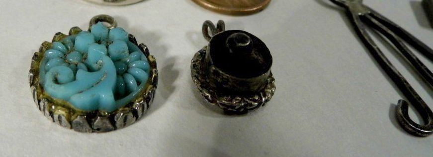 10 Vintage Bracelet Charms/ Necklace Pendants Sterling - 4