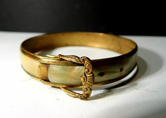 Antique Victorian Youth Bracelet Mother of Pearl - 2