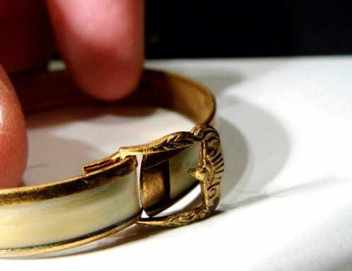 Antique Victorian Youth Bracelet Mother of Pearl - 4