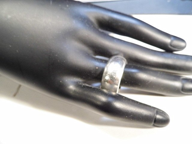Heavy Masculine Sterling Silver Ring Band 10 3/4 - 2