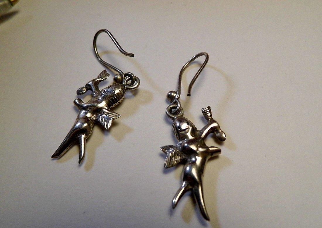 Sterling Silver Cupid Dangle Earrings - 3