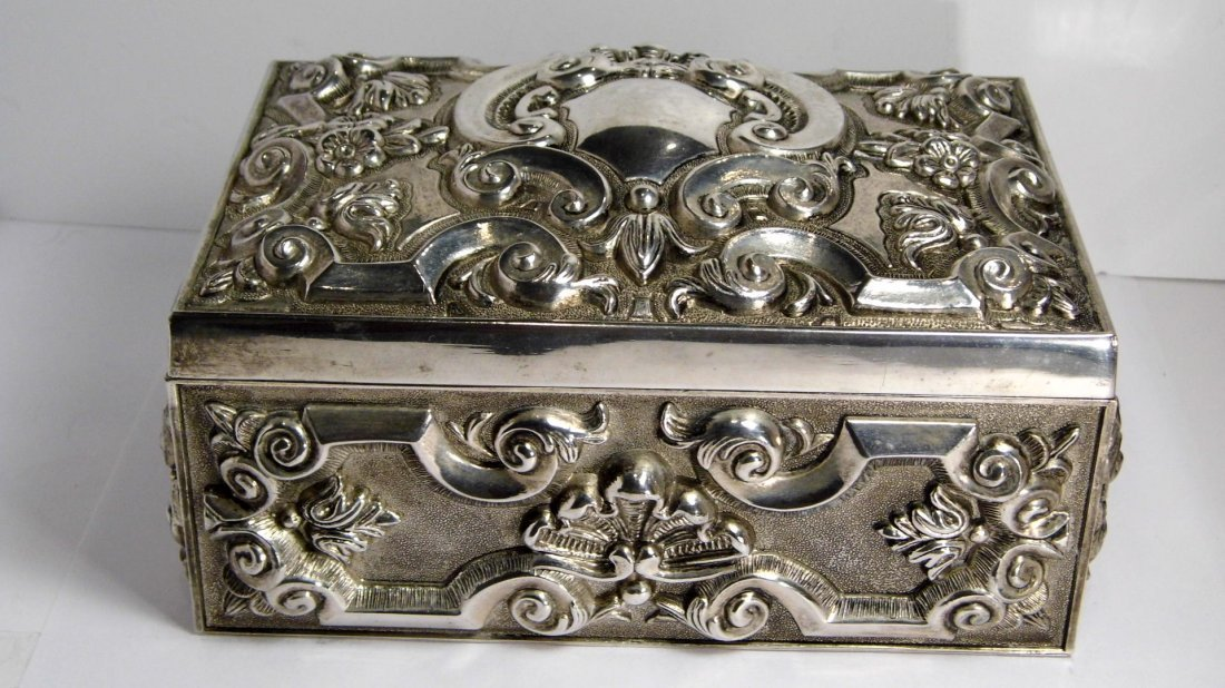 Vintage French Louis Style Silverplate Vanity Box