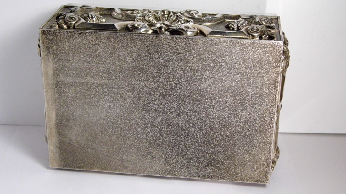 Vintage French Louis Style Silverplate Vanity Box - 9