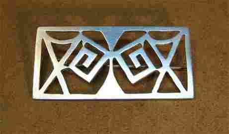 Mexican Taxco 980 Modernist Sterling Silver Brooch
