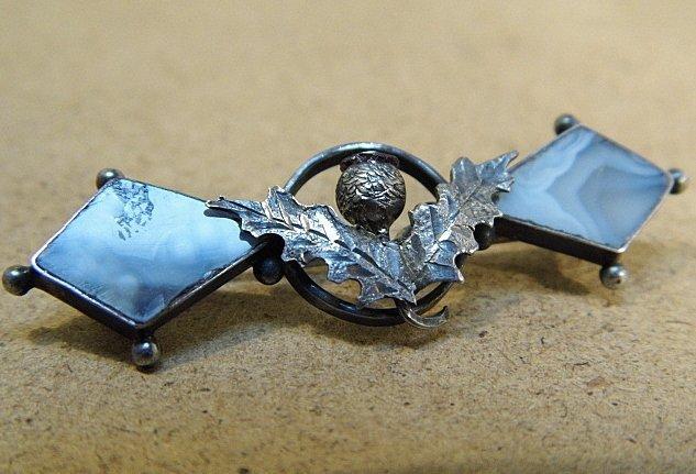 Petite Antique Scottish Thistle Pin Birmingham 1908