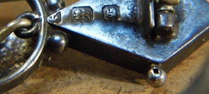 Petite Antique Scottish Thistle Pin Birmingham 1908 - 5
