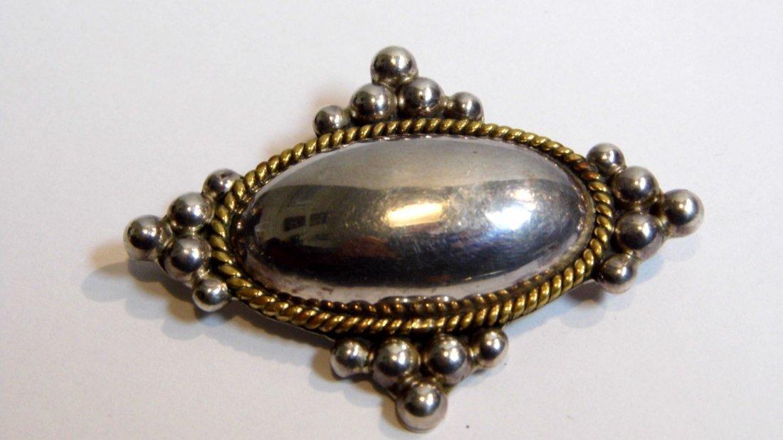 Laton Taxco Heavy Sterling Silver Brooch Pendant