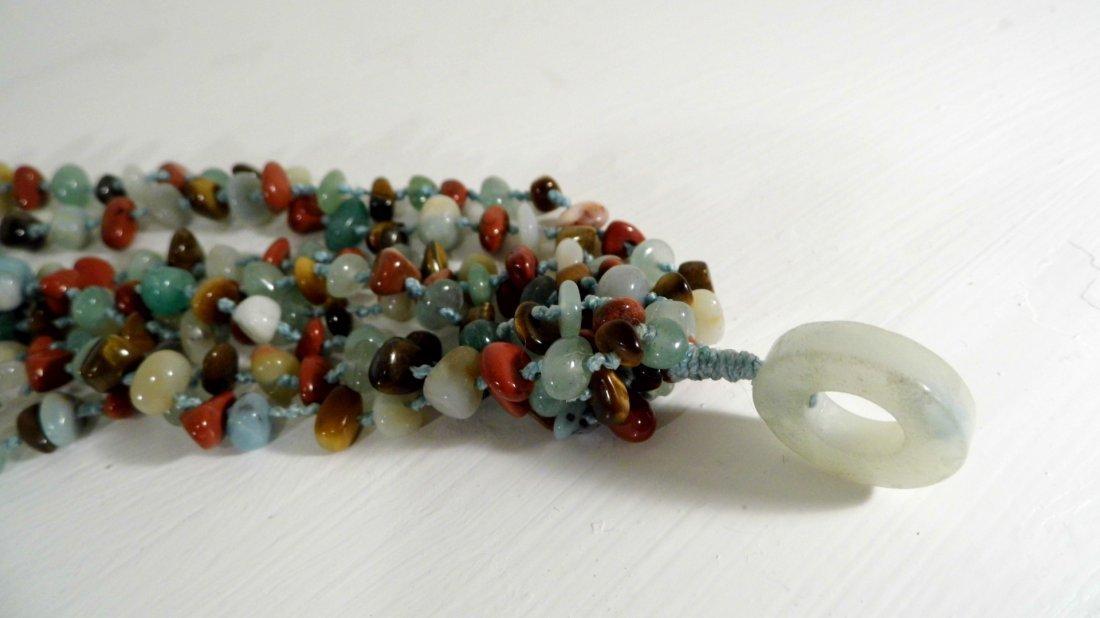 Beautiful Multi Stone Strand Bunch Necklace - 2