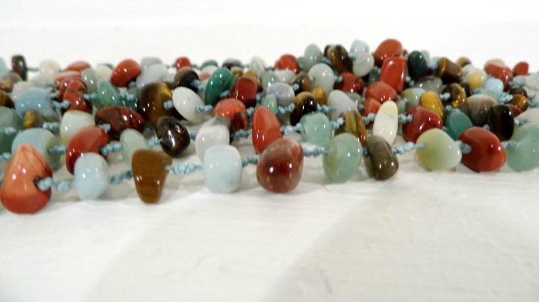 Beautiful Multi Stone Strand Bunch Necklace - 3