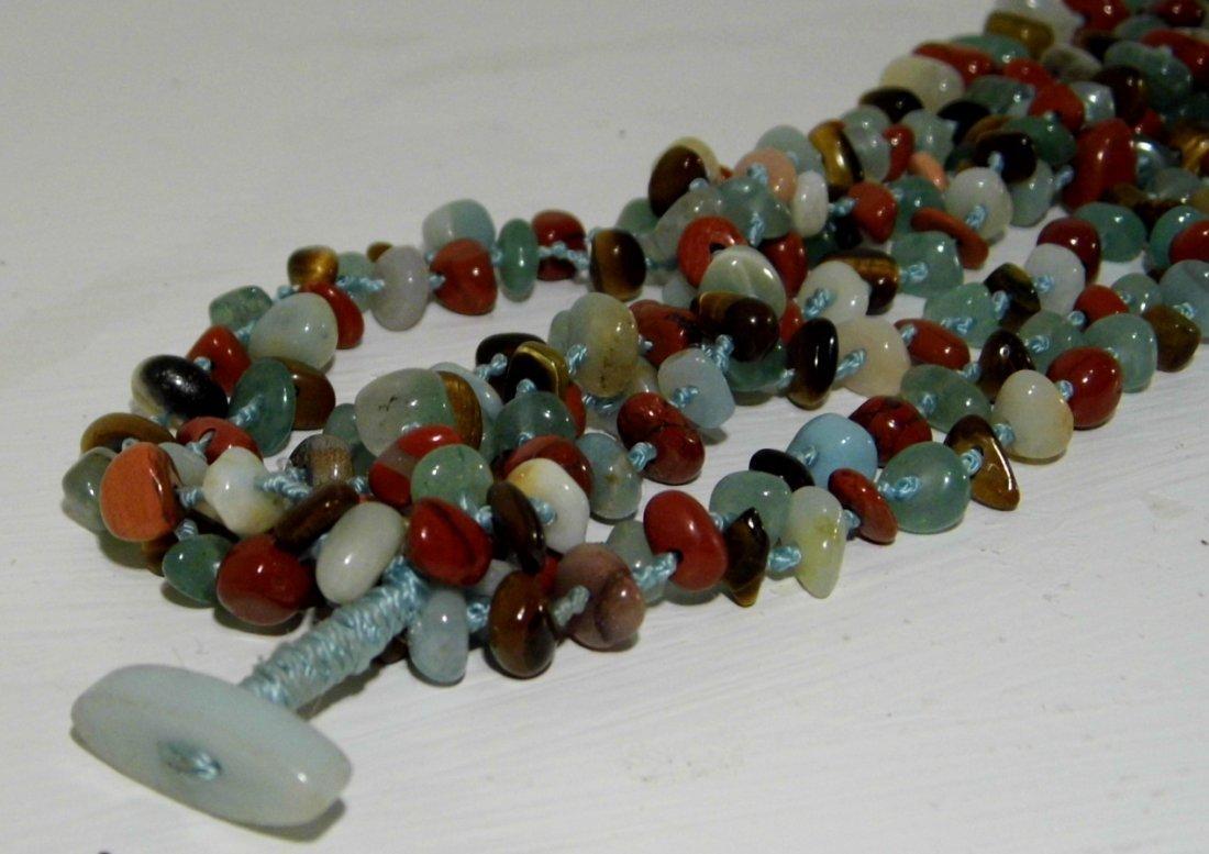 Beautiful Multi Stone Strand Bunch Necklace - 4