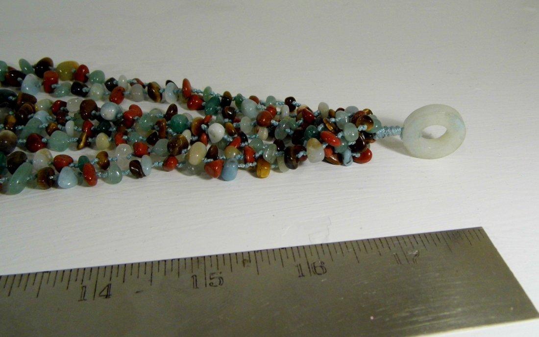Beautiful Multi Stone Strand Bunch Necklace - 5