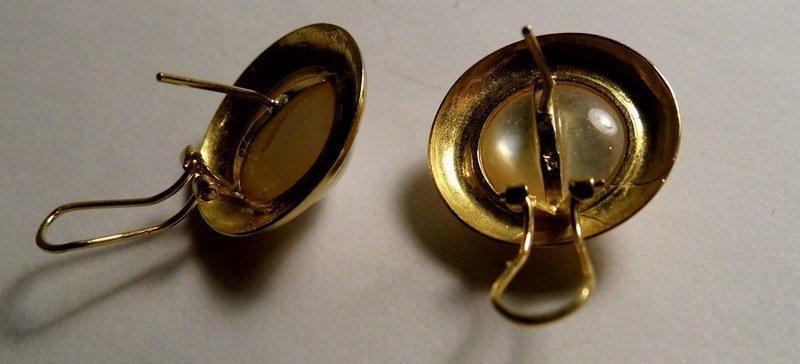 Victorian 9 Karat Gold & Mabe White Pearl Post/Clip - 4