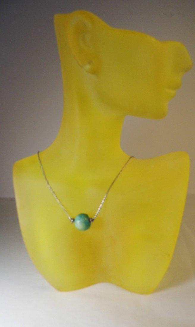 Sterling Silver Turquoise Necklace - 2