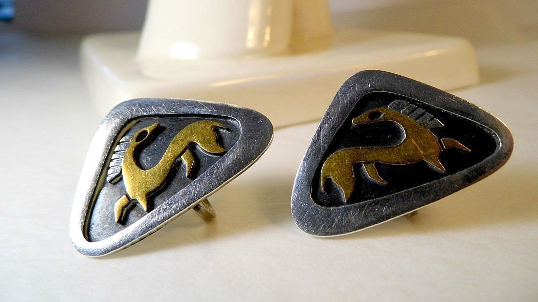 Genuine Vintage Estela Popowski Taxco Earrings
