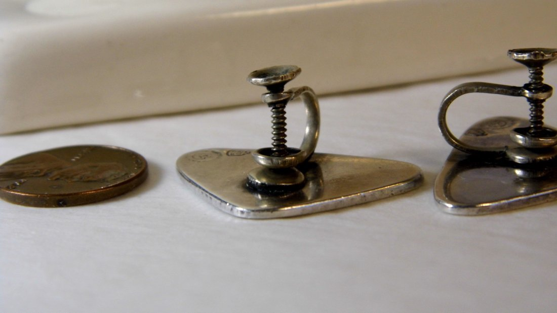 Genuine Vintage Estela Popowski Taxco Earrings - 5
