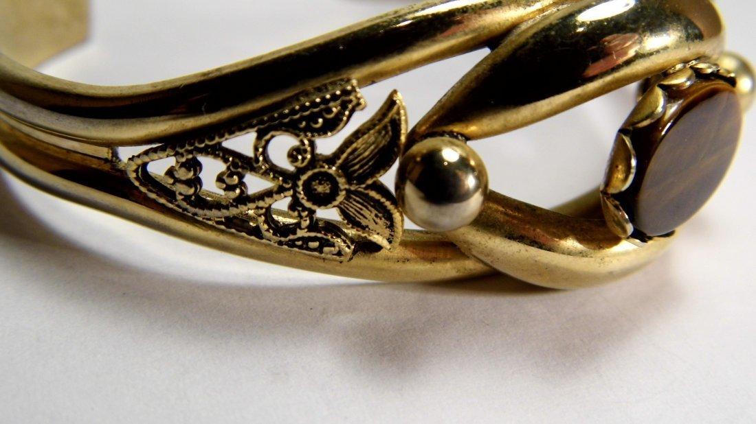 Vintage Revival Gold Tone Tiger's Eye Bracelet - 2