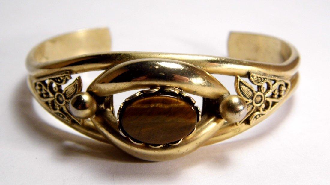 Vintage Revival Gold Tone Tiger's Eye Bracelet - 3