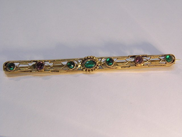 Antique Victorian Gold Plated Bar Pin