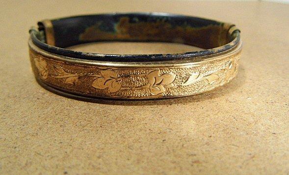 Antique Victorian Gold Fill Bangle Bracelet - 2