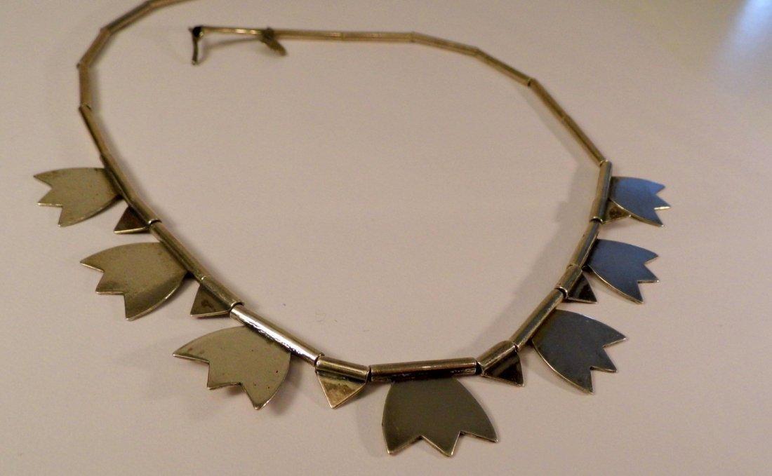 Modern Sterling Silver Mystery Mark Necklace - 2