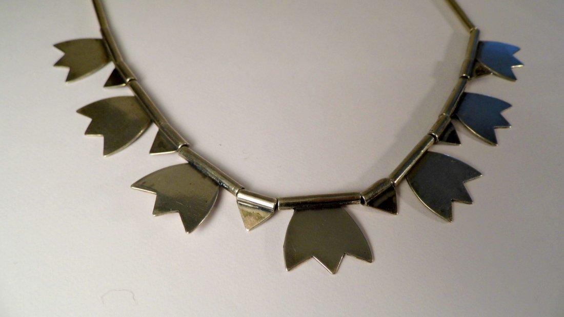 Modern Sterling Silver Mystery Mark Necklace - 4