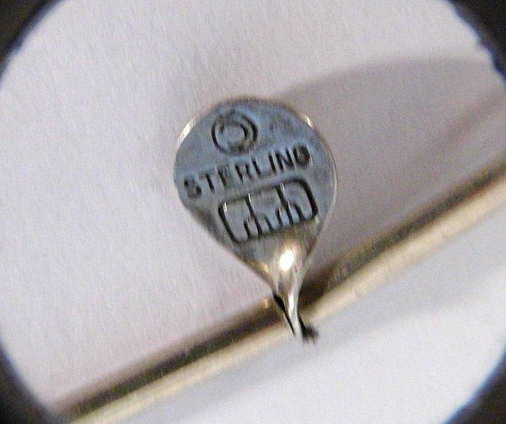 Modern Sterling Silver Mystery Mark Necklace - 5