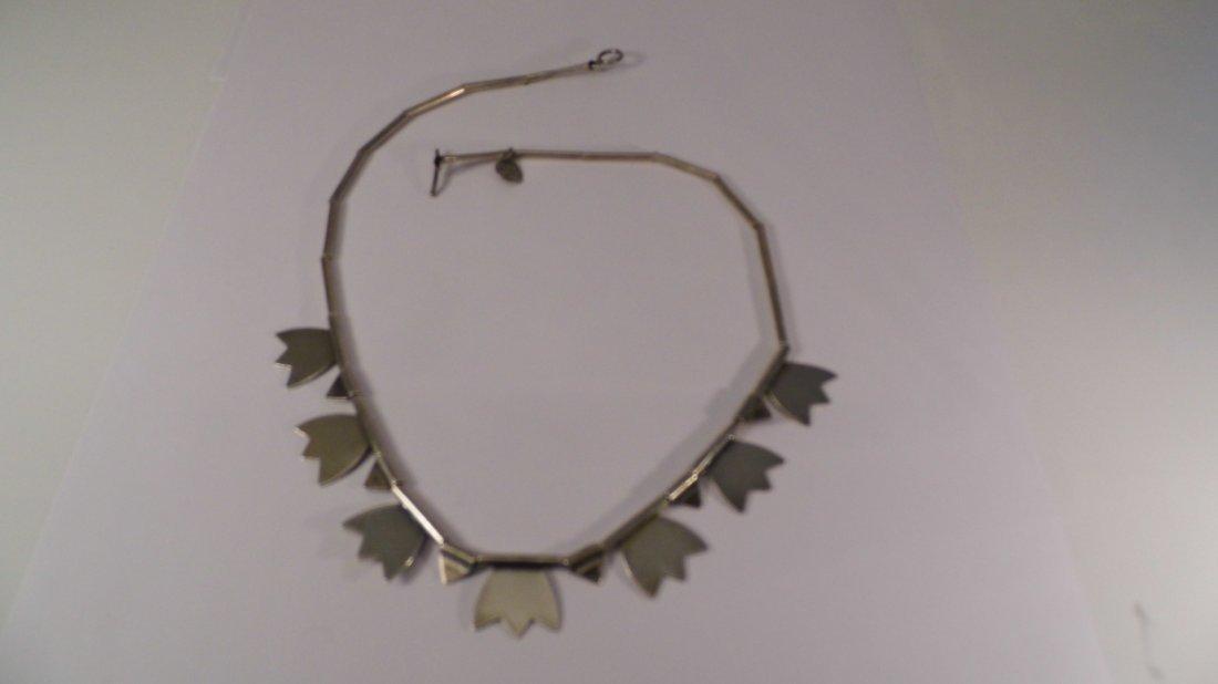 Modern Sterling Silver Mystery Mark Necklace - 6