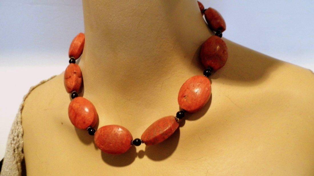 3 Piece Coral Necklace & Bracelet Pair - 2