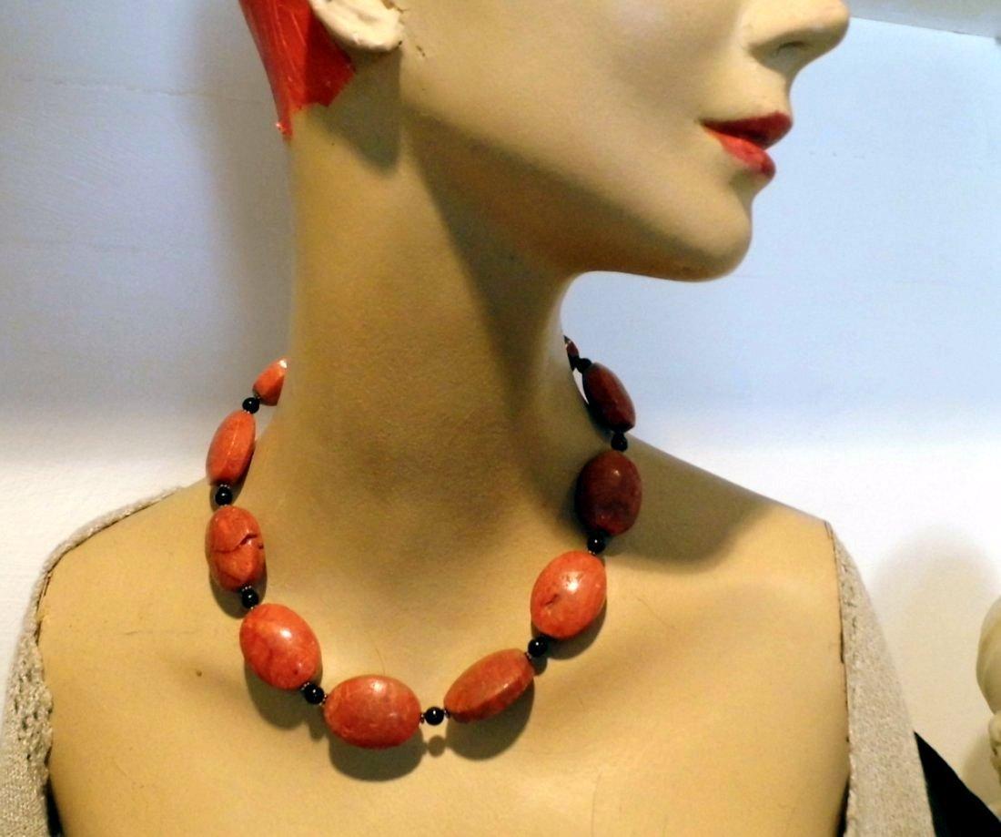 3 Piece Coral Necklace & Bracelet Pair - 3