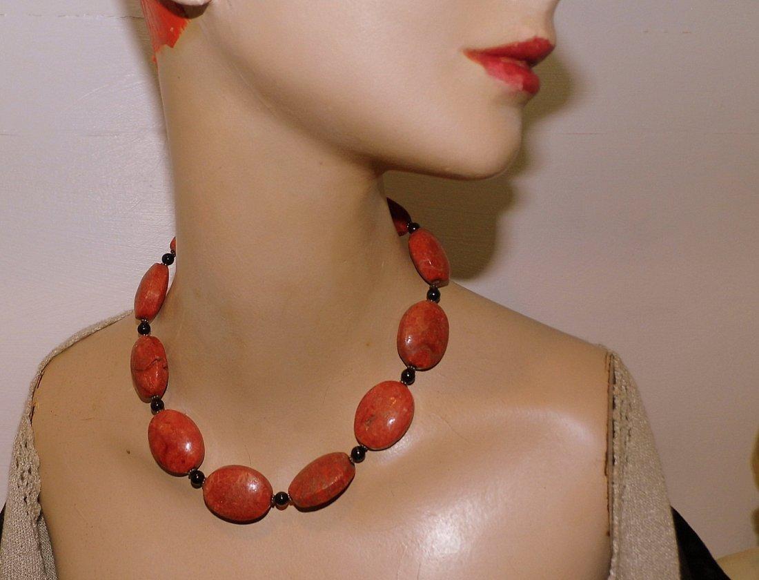 3 Piece Coral Necklace & Bracelet Pair - 4