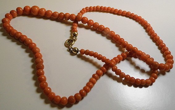 Vintage Collmar Mediterranean Coral Necklace - 3
