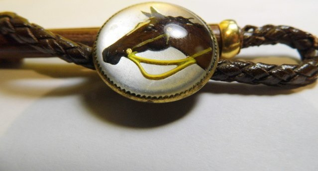 Equestrian Jewelry Riding Crop Horse Portrait Brooch - 2