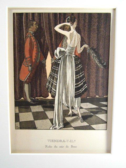 French Art Deco Fashion Print Pierre Brissaud