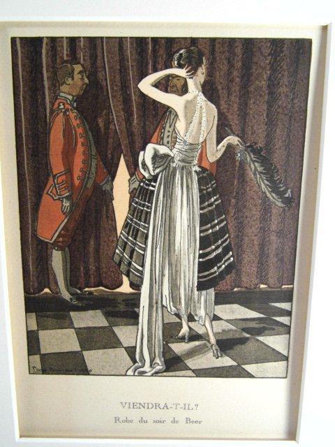 French Art Deco Fashion Print Pierre Brissaud - 3