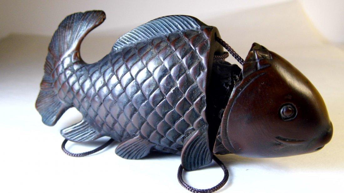 Vintage Chinese Netsuke Carp or Coy Fish