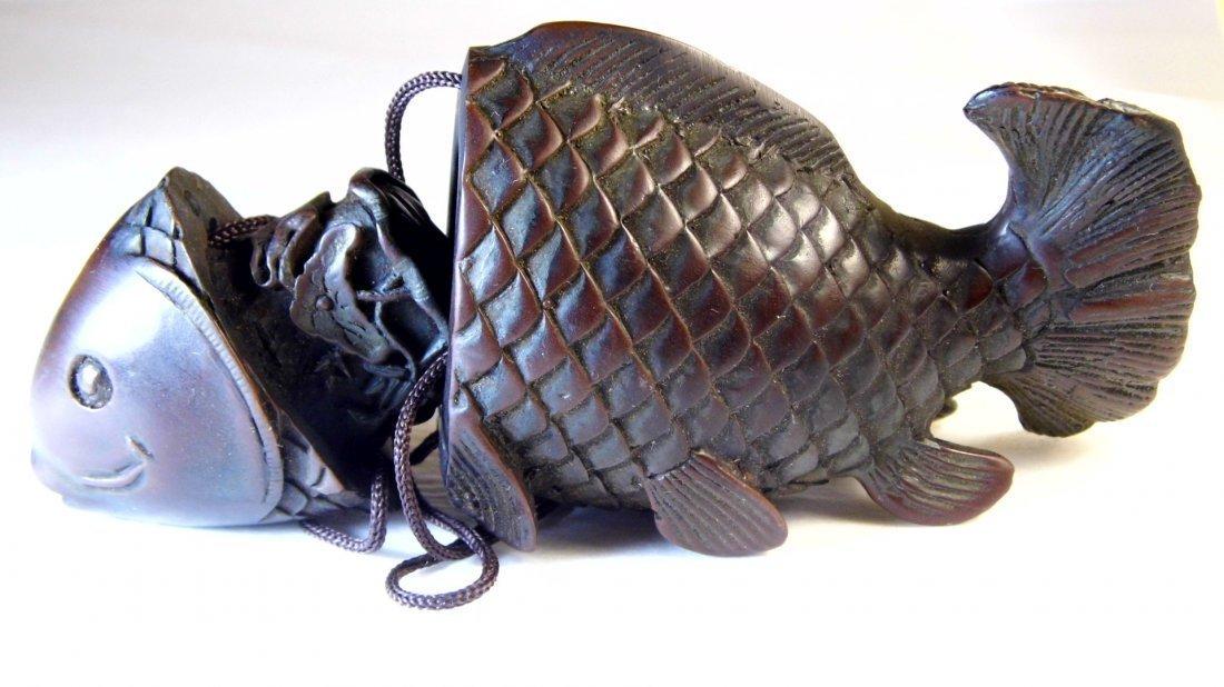 Vintage Chinese Netsuke Carp or Coy Fish - 2