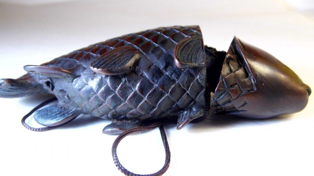 Vintage Chinese Netsuke Carp or Coy Fish - 4